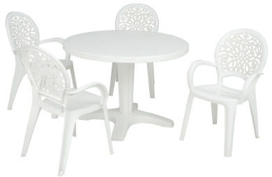 Outdoor plastic furniture - Cleaning