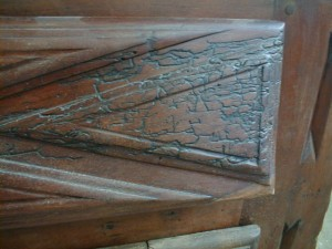 Scratched Wood Furniture