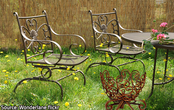 Metal patio furniture is beautiful and durable when properly taken care of.