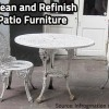 Learn how to clean and refinish metal furniture.