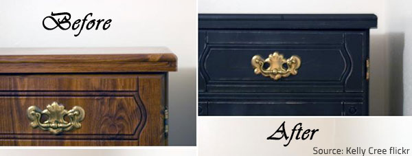 Repainiting furniture is an efficient way to prolong the life of your furniture pieces.