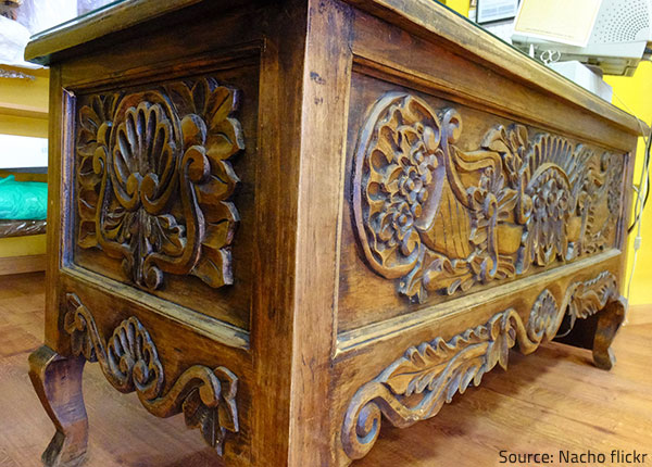 Antique furniture is very valuable and must be carefully restored.