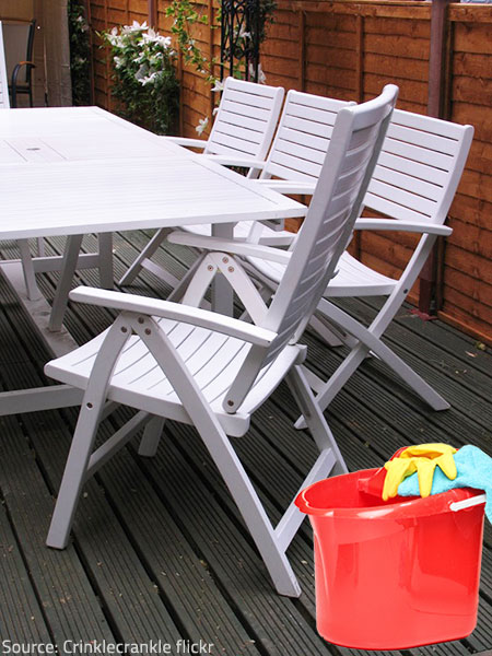 It is recommendable to clean your patio furniture in early spring.