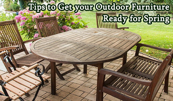 How to prepare outdoor furniture for spring.