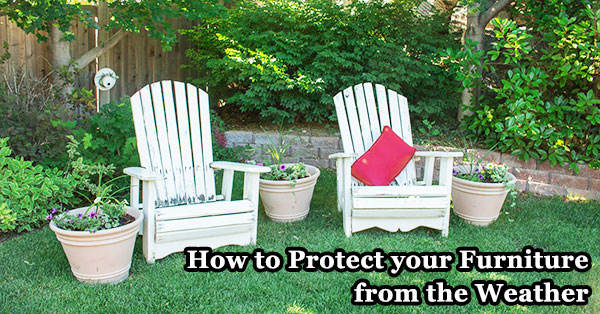 How to protect furniture from the weather.