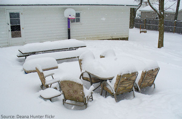 protecting outdoor furniture. Store Furniture Indoors To Prvent Weather Damage During The Winter. Protecting Outdoor