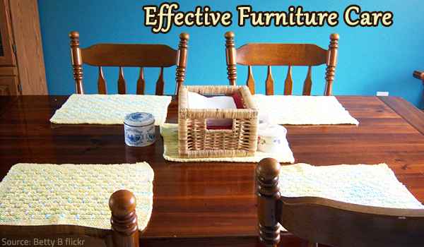 Furniture care tips.