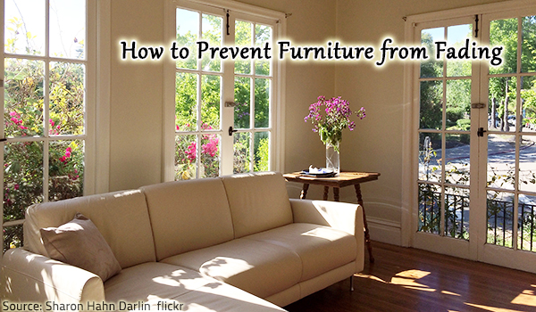 Tips for protecting furniture from sun damage and restoring faded wood furniture.