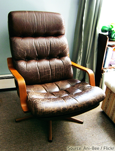 Restoring leather furniture is a difficult and time-consuming process.