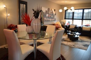 Staging your home with nice looking furniture makes it more appealing to buyers.