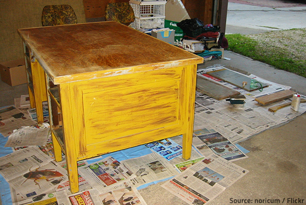 Wood furniture refinishing is a laborious and time-consuming process.