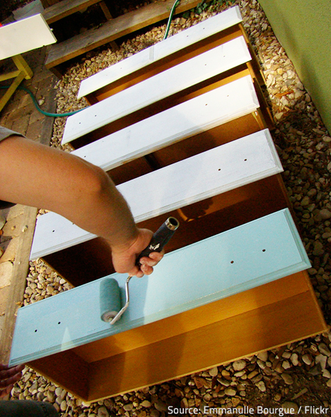 Repainting wood furniture requires patience and attention to detail.