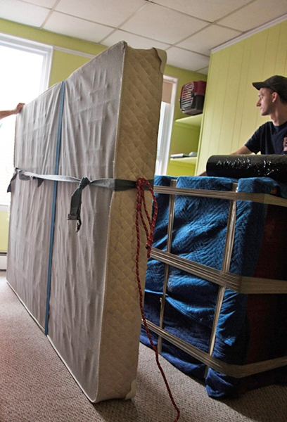You need to find a way to manoeuver your furniture safely put of your home.