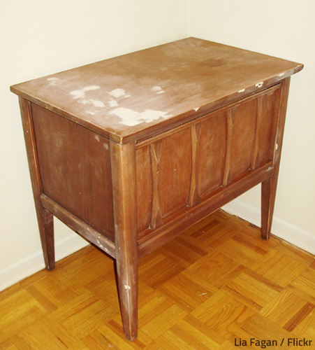 Water damaged furniture may or may not be worth restoring.