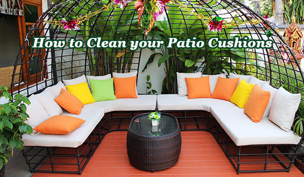Find out how to clean patio cushions the right way.